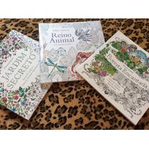 Livros Jardim Secreto + Floresta Encantada + Reino Animal