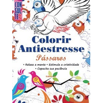 Livro Para Colorir Pássaros - Antiestresse