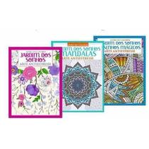 Kit Com 3 Livros De Colorir Para Adultos Jardim Dos Sonhos