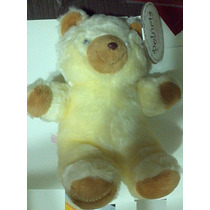 Pelúcia - Urso Amarelo/marrom, Nome Leandro (pata) Babybrink