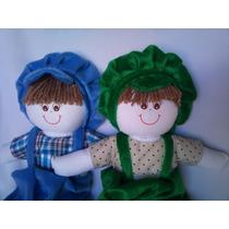 Boneco Pano 35cm Bonecas Gaia Brinquedo Decoração Infantil