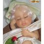 Mini Boneca Bebê Dormindo Na Bota Couro Resina Polymer Zoar