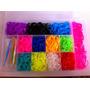 Rainbow Loom - Pulseira 2600 Elásticos + Caixa Organizadora