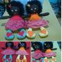 Boneca Maricota Negra Ou Loira De Pano Cabelo De Lã Linda