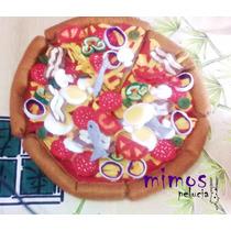Comidinha De Feltro Pizza Brinquedo Interativo