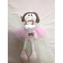 Bailarina, Boneca De Pano,boneca Artesanal, Presente,