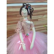 Boneca Bailarina De Pano - Tamanho 40 Cm