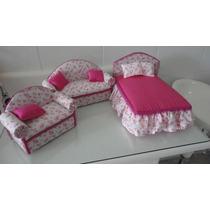 Cama E Sofa Para Boneca Barbie