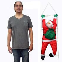 Papai Noel Enfeite Natalino Na Escada Escalador Natal