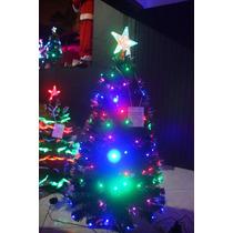 Arvore De Natal Fibra Otica E Leds Efeito Rgb Cascata 1,5m