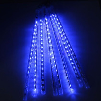 20 Kits Cascata Chuva Meteoro 8 Tubos 240 Leds Azul 50cm