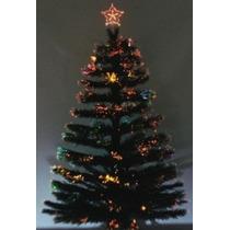 Arvore De Natal Fibra Otica 1,20cm Com Estrelas