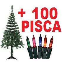 Arvore De Natal 1,20m + 100 Luzes Pisca-pisca Grátis