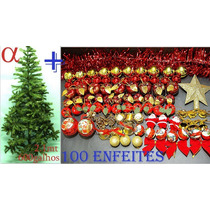 Árvore De Natal Verde Canadense 2,1m 600g+100enfeites.alfa.
