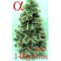 Árvore Natal Verde Nevada Pinheiro Grossa 1,50mt 148g+brinde