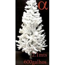 Árvore De Natal Branca Canadense 2,1m 600galhos +brinde.alfa