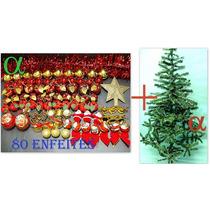 Árvore De Natal Verde Nevada 1,5mt 300galho+80 Enfeite.alfa.