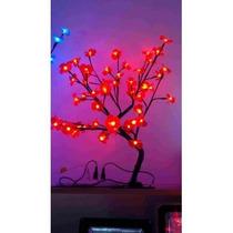 Arvore De Natal 60 Cm Led Vermelho Ou Azul 48 Leds Linda