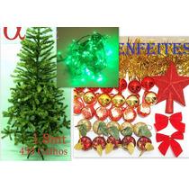 Árvore De Natal Verde 1,8m 450g +piscaled +100enfeites.alfa
