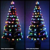 Arvore De Natal 1,50 Mts Fibra Otica E Led De Bolinhas Color