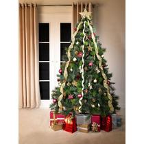 Árvore Natal Canadense Decorada 1,80 M 516 Pontas Pisca Leds