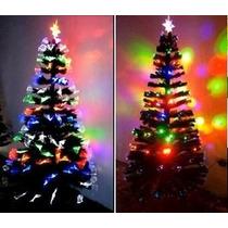 Árvore De Natal Fibra Ótica E Fibra Com Led 110v 1,80m