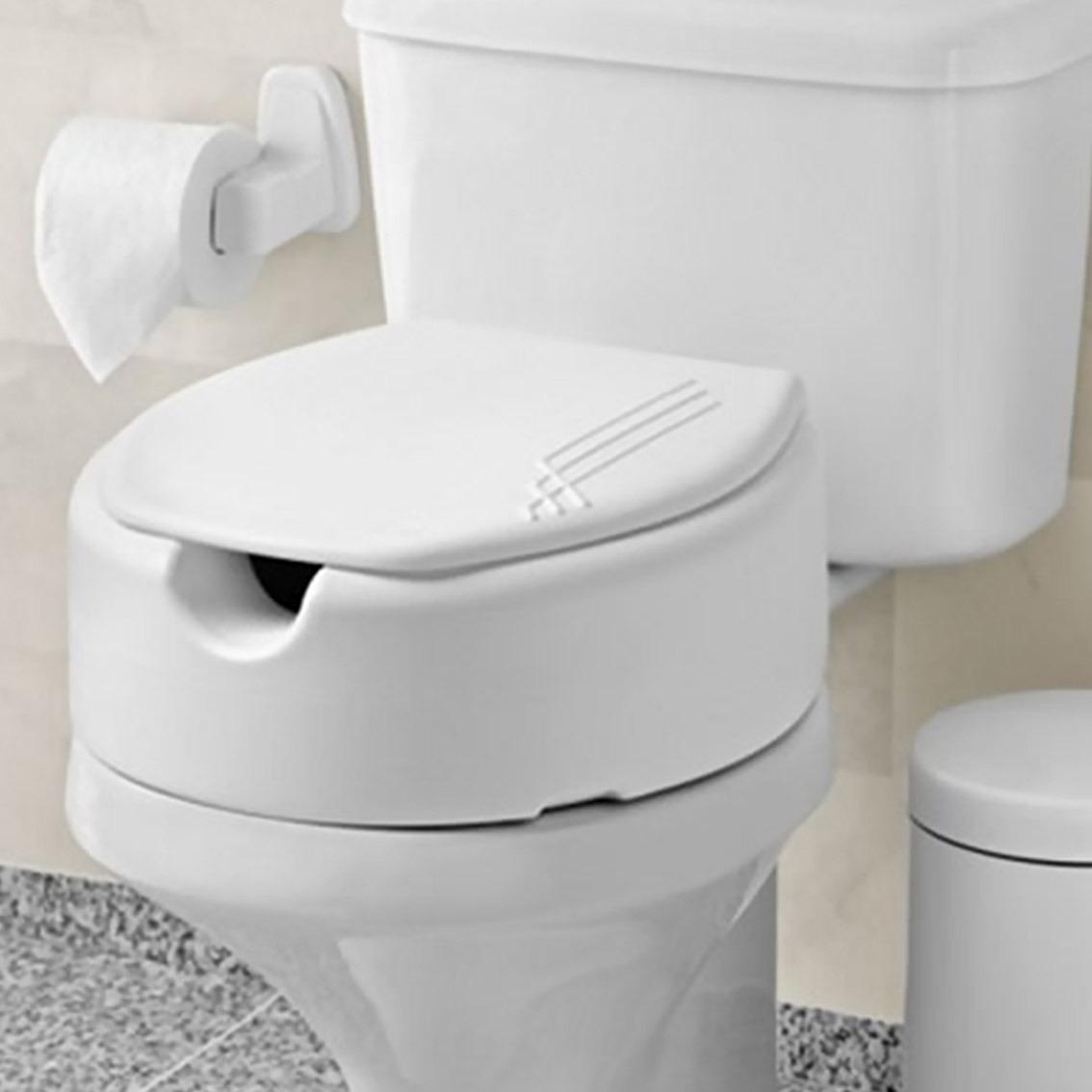 Assento Sanitário Elevado E Tampa Para Idosos E Deficientes R$ 94  #70695B 1134x1134 Assento De Banheiro Para Idoso