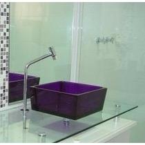 Cuba Para Banheiro Quadrada - Cores Translúcidas