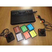 Atari 2600 Polivox Av Stereo 2 Controles Originais 160 Games