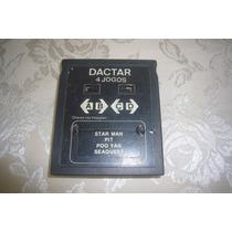 Fita / Cartucho Atari - Dactar Com 4 Jogos!!!