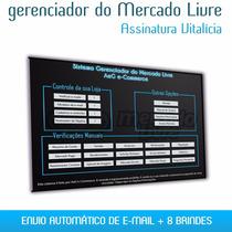 Gerenciador Vendas Mercado Livre Sistema + 8 Brindes + Avg