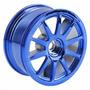 4 X Roda Automodelo Plastico 1/10 Offset 3.mm Azul 10 Ponta
