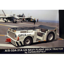 Maquete De Papel 3d - Veículos - Us Navy Flight Deck Tractor