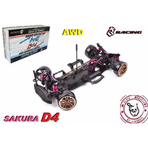 Sakura D4 - Awd - Kit 1/10 - 3 Rancing - Pronta Entrega