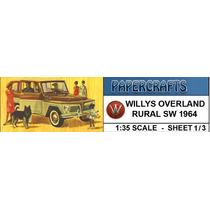 Miniatura De Papel - Veículos Antigos - Rural Willis Brasil