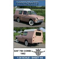 Miniatura De Papel - Veículos - Daf 750 Combi