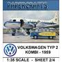 Maquete De Papel 3d - Veículos - Vw Kombi - Lufthansa 1959