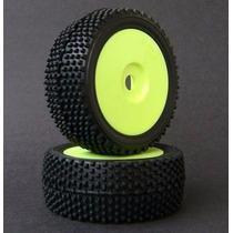 S049 Par De Rodas/pneus Amarela/pneu Xtreme Off Road - 12mm
