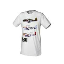 Camiseta Spitfire, P-51 - Fino Acabamento - Maxgp Hobbies