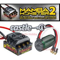Kit Mamba Monster 2 1/8 Motor 2200kv + Esc P/ Traxxas Hpi