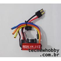 Esc 60a C/ Cooler Para Motor Vxl E-revo 1/16 Revinho Traxxas