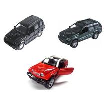 Kit Com 03 Miniaturas De Jeep, Cherokee, Liberty E Jeepster