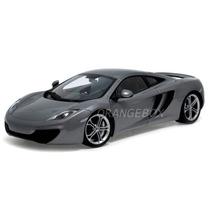 Mclaren Mp4-12c 1:18 Autoart Prata 76007