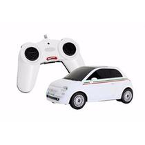 Carro Controle Remoto Fiat 500 Branco 1:24 Rastar 63001