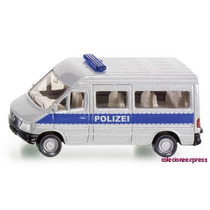 Miniatura Alema Siku 0804 Furgao De Policia 1:64 Hotwhlees
