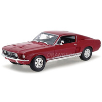 Ford Mustang Gta Fastback 1967 1:18 Maisto 31166-vermelho