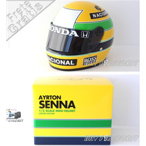 1/2 Capacete Bell Ayrton Senna Campeão Da F1 1988