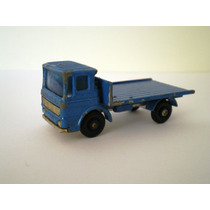 M0032 - Caminhão Azul Roda Fina , Marca Matchbox , Esc. 1/64