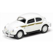 Miniatura Vw Fusca Classico Taxi Sao Paulo 1:64 Diecast Meta