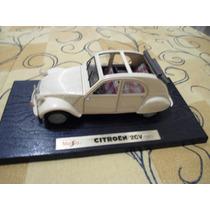 Miniatura Citroen 2cv 1952 Bege 1/18 Maisto Otimo Estado